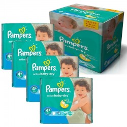 Maxi Giga Pack 350 Couches Pampers Active Baby Dry sur Couches Zone