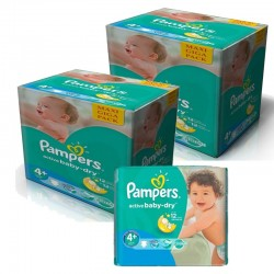 Pack Jumeaux 420 Couches Pampers Active Baby Dry