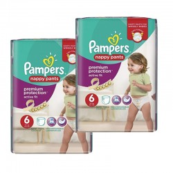 Pack 28 couches Pampers Active Fit Pants sur Couches Zone