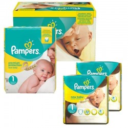 Giga Pack 192 couches Pampers New Baby Premium Protection sur Couches Zone