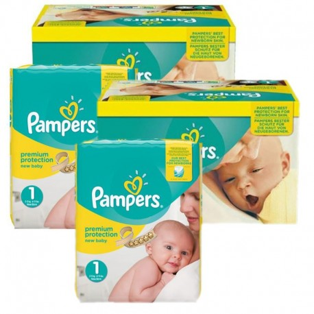 Maxi Mega Pack 384 couches Pampers New Baby Premium Protection sur Couches Zone