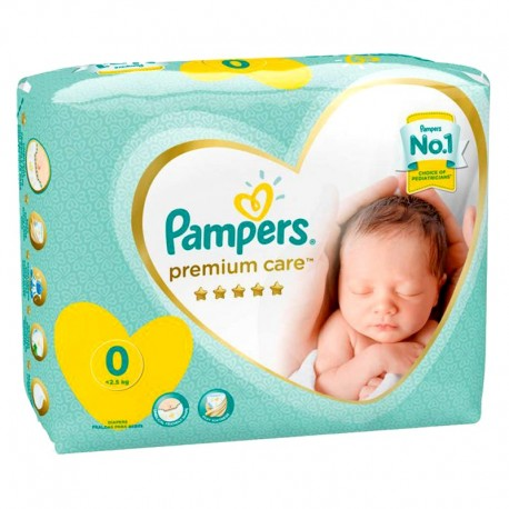 Pack 30 Couches Pampers New Baby Premium Care taille 0 sur Couches Zone