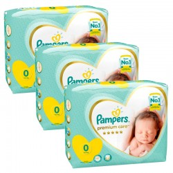 Giga Pack 90 Couches Pampers New Baby Premium Care taille 0