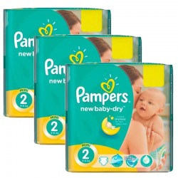 Giga Pack 129 Couches Pampers New Baby Dry sur Couches Zone