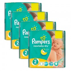 Maxi Giga Pack 215 couches Pampers New Baby Dry