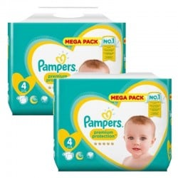 Pack 164 Couches Pampers New Baby Premium Protection