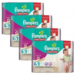Giga Pack 160 couches Pampers Active Fit Pants sur Couches Zone