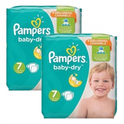 Pack 60 couches Pampers Baby Dry sur Couches Zone