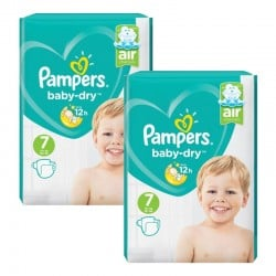 Maxi Giga Pack 144 couches Pampers Baby Dry sur Couches Zone