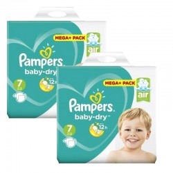 Giga Pack 116 couches Pampers Baby Dry sur Couches Zone