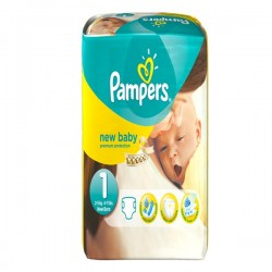 New Baby - Pack de 56 Couches Pampers taille 1