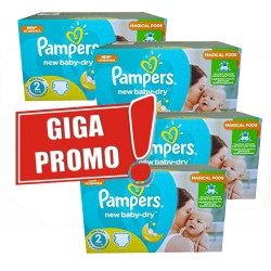 Maxi giga pack 387 Couches Pampers New Baby Dry sur Couches Zone