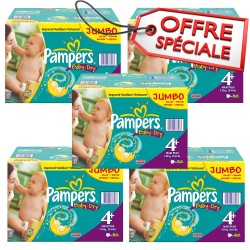 Maxi mega pack 410 Couches Pampers Baby Dry taille 4+ sur Couches Zone