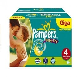 Mega pack 132 Couches Pampers Baby Dry taille 4 sur Couches Zone