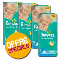 Maxi giga pack 348 Couches Pampers Active Baby Dry