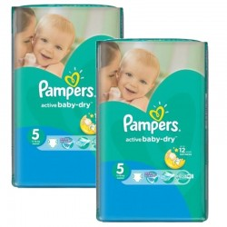 Maxi mega pack 406 Couches Pampers Active Baby Dry sur Couches Zone