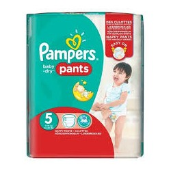 Pack 52 Couches Pampers Baby Dry Pants taille 5 sur Couches Zone