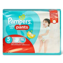 Pack 96 Couches Pampers Baby Dry Pants taille 5 sur Couches Zone