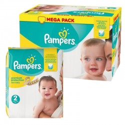 Mega pack 155 Couches Pampers New Baby Premium Protection taille 2 sur Couches Zone