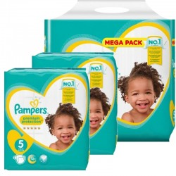 Maxi giga pack 390 Couches Pampers New Baby Premium Protection taille 5 sur Couches Zone