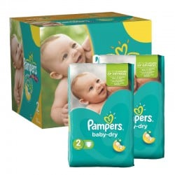 Mega pack 184 Couches Pampers Baby Dry taille 2
