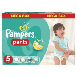 Pack 44 Couches Pampers Baby Dry Pants taille 5 sur Couches Zone