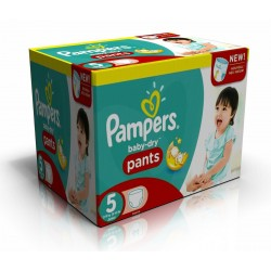 Giga pack 288 Couches Pampers Baby Dry Pants taille 5 sur Couches Zone