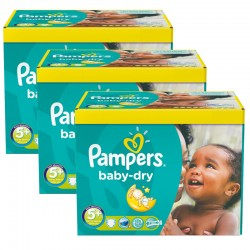Giga pack 224 Couches Pampers Baby Dry taille 5+ sur Couches Zone