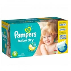 Baby Dry - Maxi Pack de 124 Couches Pampers taille 6